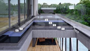 Balkon- und Terrassenabdichtungen mit kaltselbstklebender Bitumen Dichtungsbahn