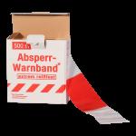 Absperrband rot/weiss geblockt 80mm x 500m