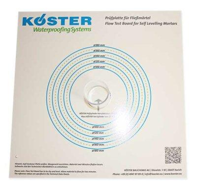 KÖSTER SL Prüfplatte für Fließmörtel