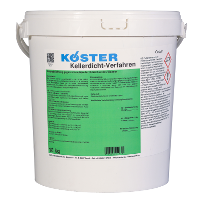 KÖSTER Kellerdicht-Verfahren - Set KD1-7,5kg, KD2-7,5kg, KD3-3kg