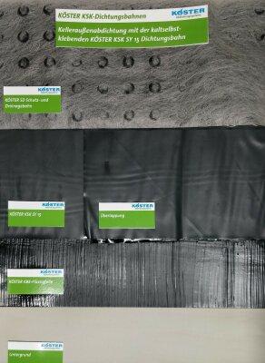 Set Außenabdichtung mit kaltselbstklebenden Dichtungsbahnen (KSK)