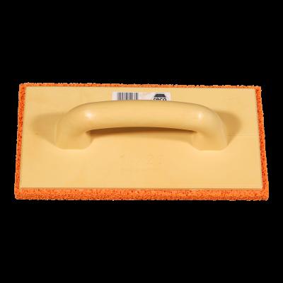 Reibebrett PU 140 x 280mm 20mm Schwammgummiauflage orange